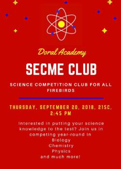 Science Competition Club Mtg